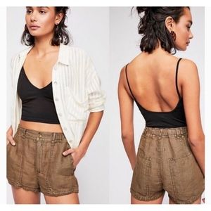 Free People Beacon Utility Shorts in Moss